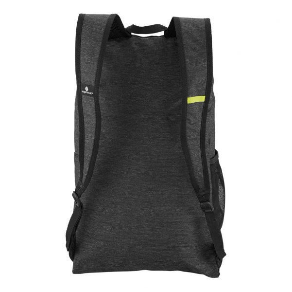 The back of the Eagle Creek packable daypack