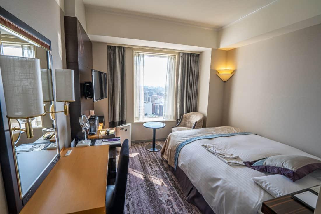 Semi-double room at Hotel Granvia Okayama, Japan