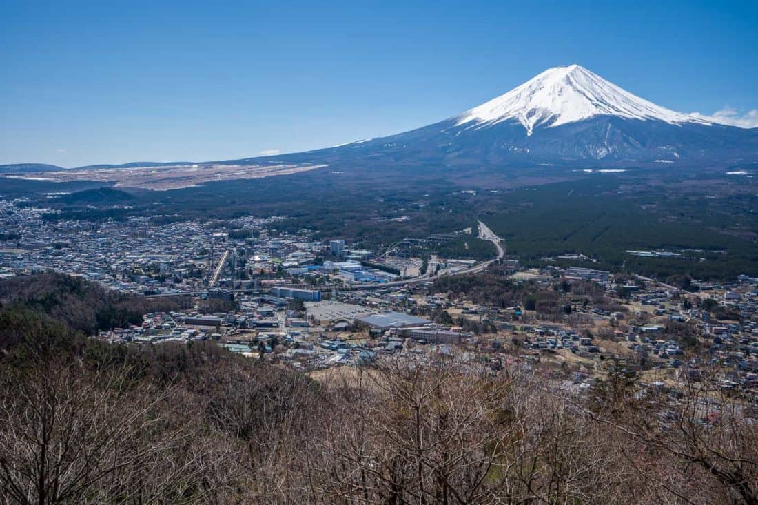 Mount Fuji view from the Kawaguchiko Ropeway