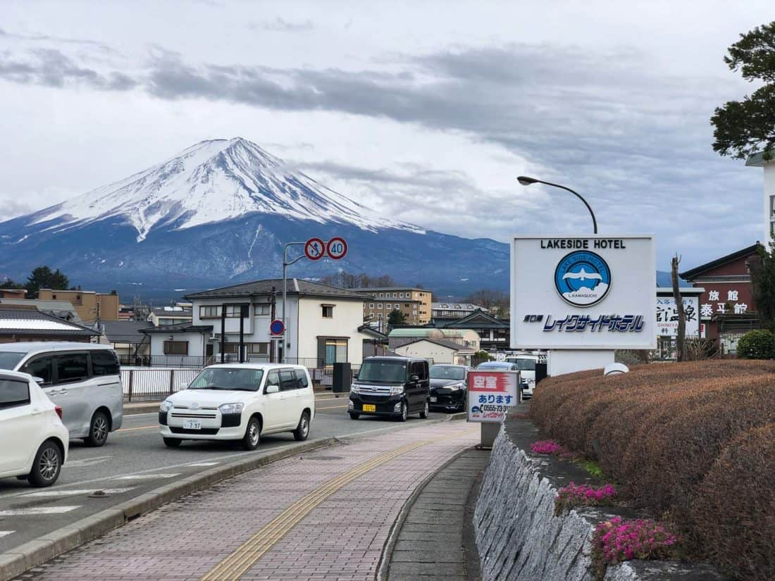 Mount Fuji view from Kawaguchiko Lakeside Hotel