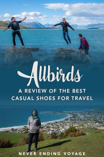 A complete review of Allbirds sneakers for travel! | travel shoes, allbirds review, allbirds sneakers, packing tips
