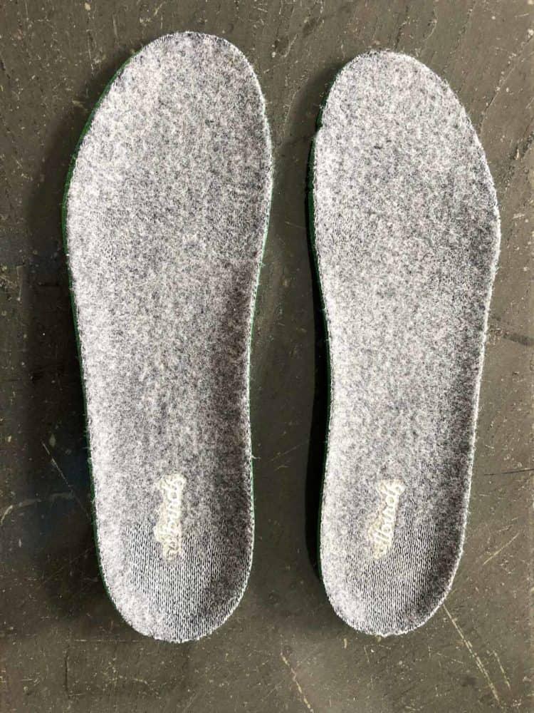 Worn heels in Allbirds insoles