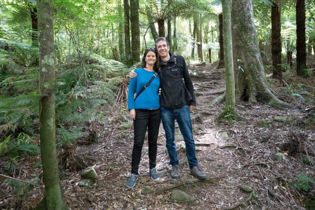 Wearing my Allbirds Wool Runners on an easy hike through the forest at Pelorus Bridge, New Zealand