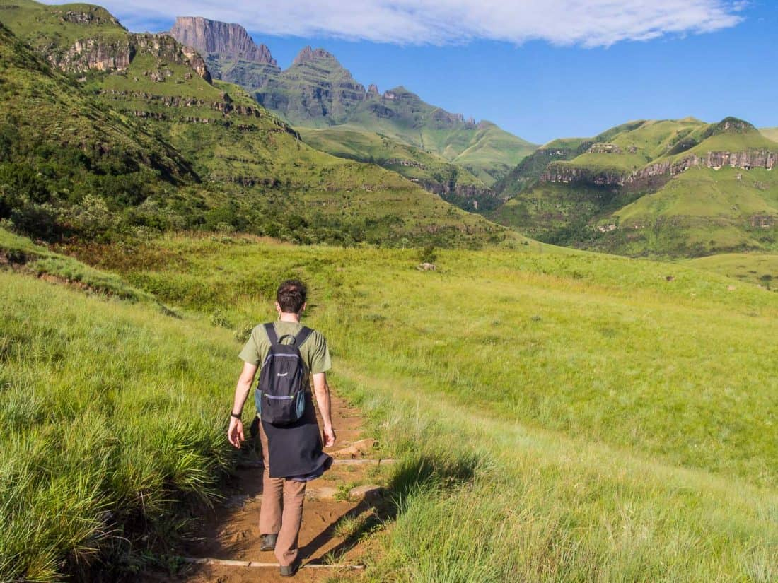 Hiking in South Africa with Gonex, the best packable backpack