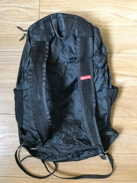 The back of the Naturehike foldable daypack
