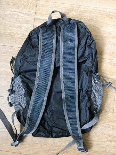 The back of the New Outlander foldable backpack
