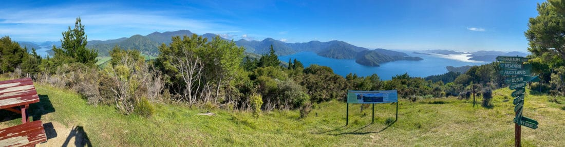 View at Eatwell's Lookout on the Queen Charlotte Track