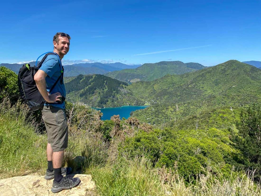 Simon on Day 4 of the Queen Charlotte Track