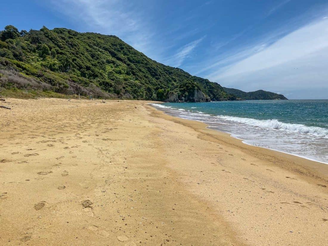 Anapai Bay, a quiet beach on the Abel Tasman Coast Track