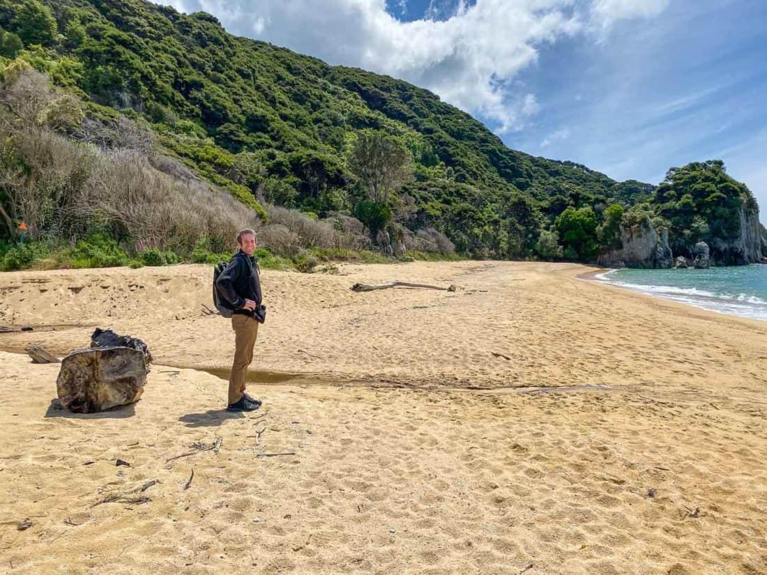 Walking on the beach at Anapai Bay on an Abel Tasman day trip