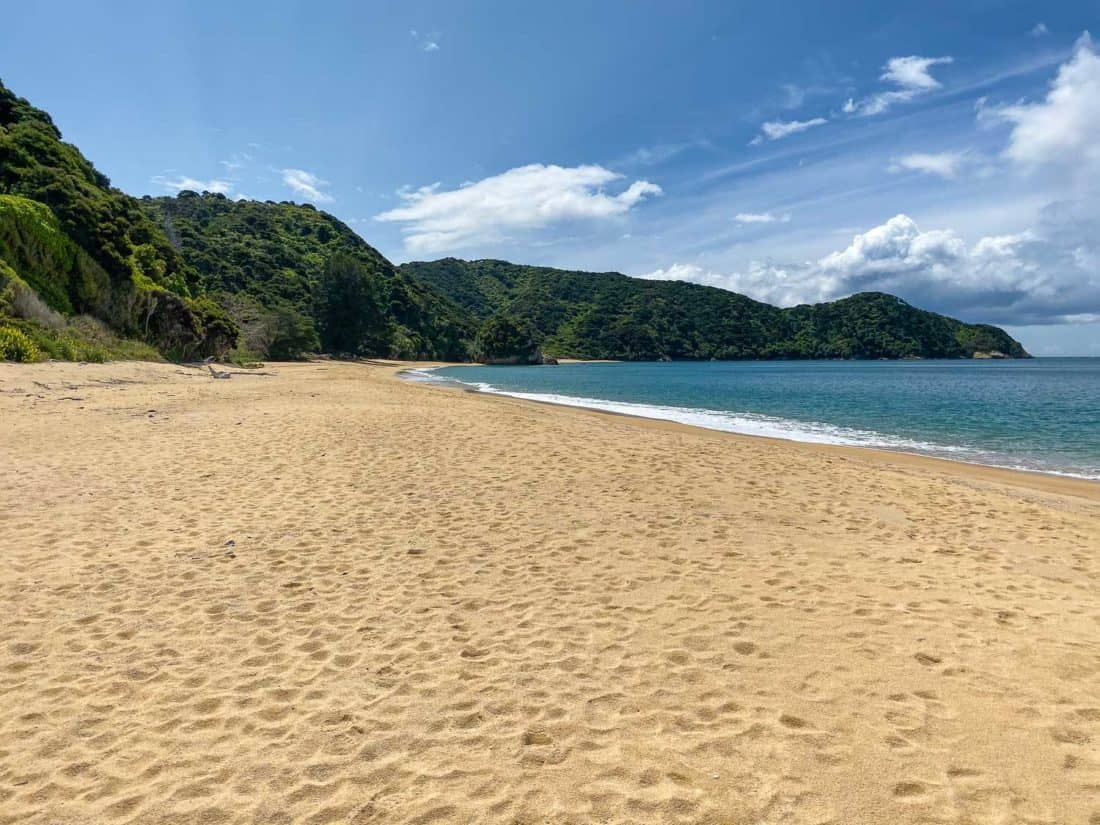 Mutton Cove, one of the quietest beaches in Abel Tasman National Park