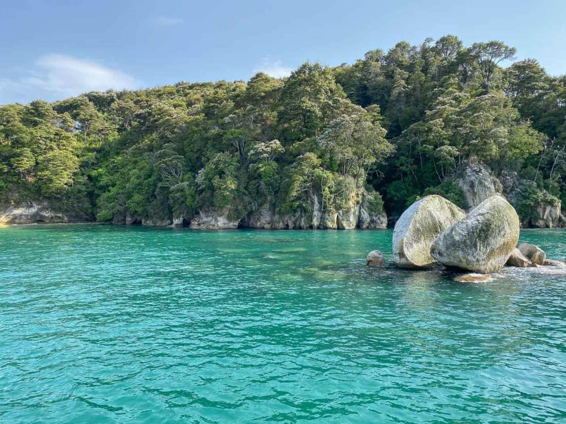 Split Apple Rock near Abel Tasman National Park