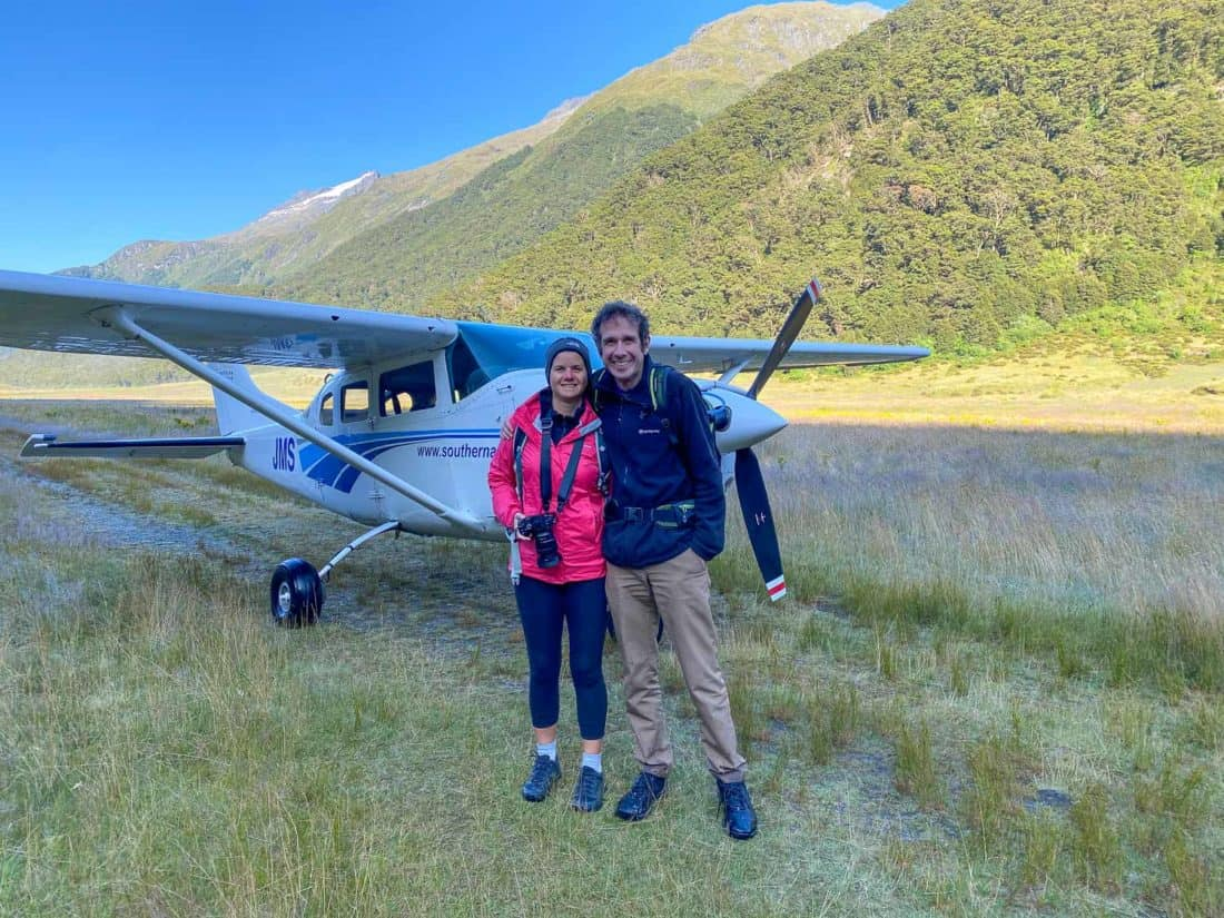 Landing in a field on the Siberia Experience