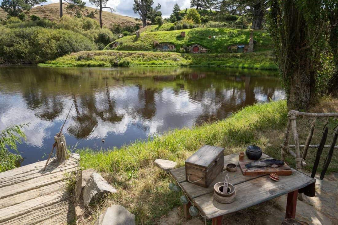 Fishing at Hobbiton lake