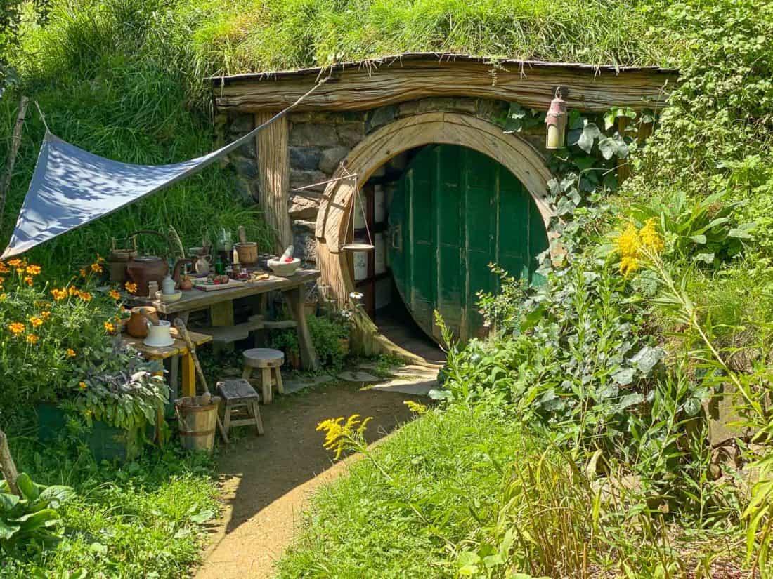 Pharmacy hobbit hole in Hobbiton, New Zealand