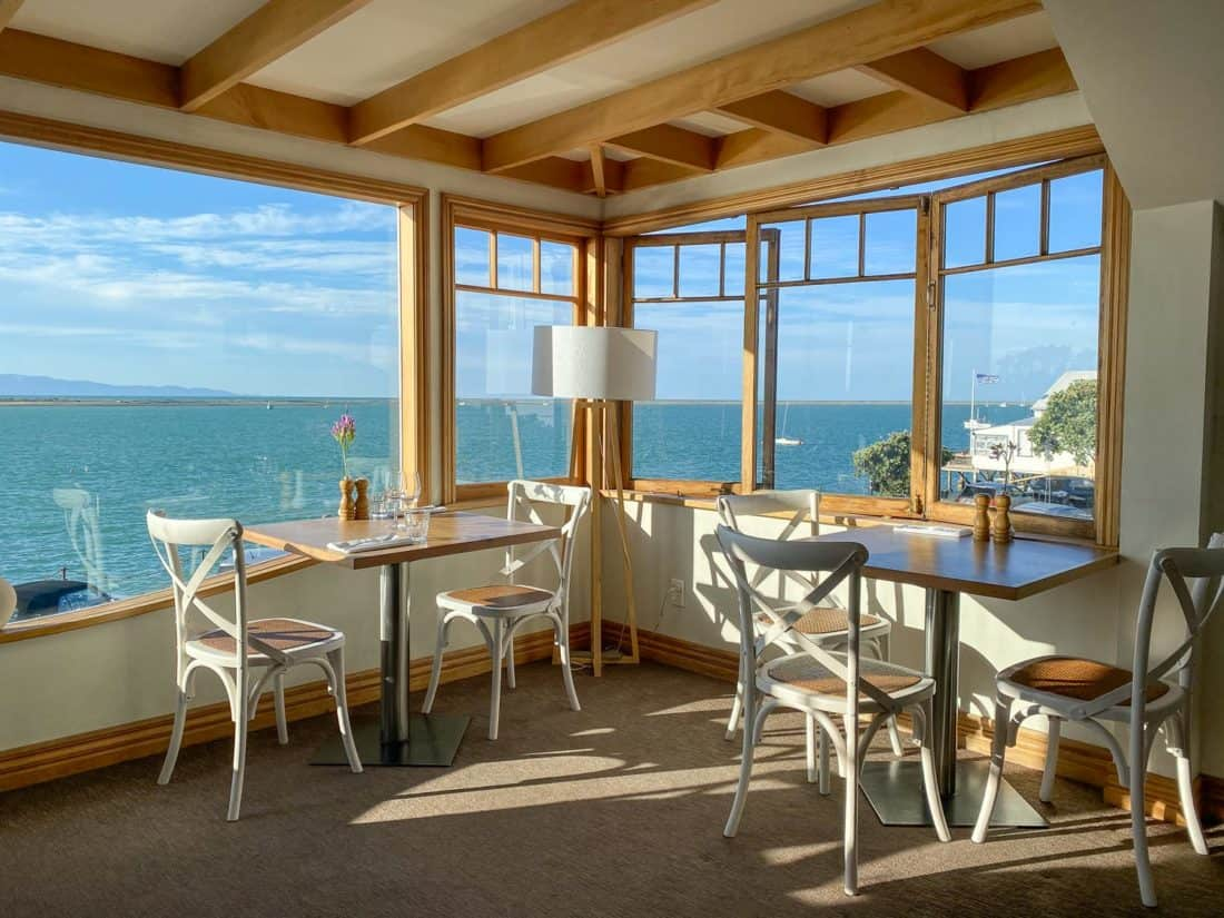 The sea view at Habour Light Bistro in Nelson