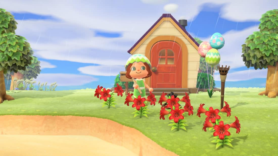The house we built on Animal Crossing