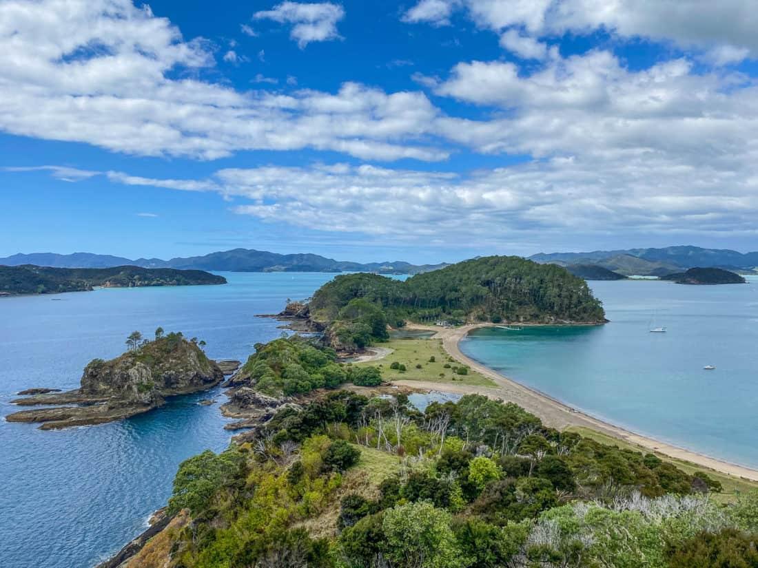 The view from Motuarohia Island aka Roberton Island in New Zealand's Bay of Islands