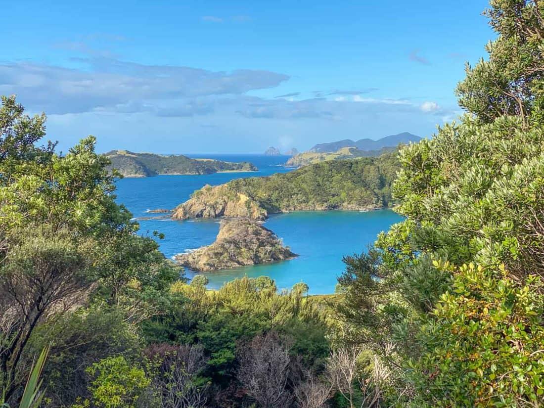 View from walking trail on Moturua Island, Bay of Islands