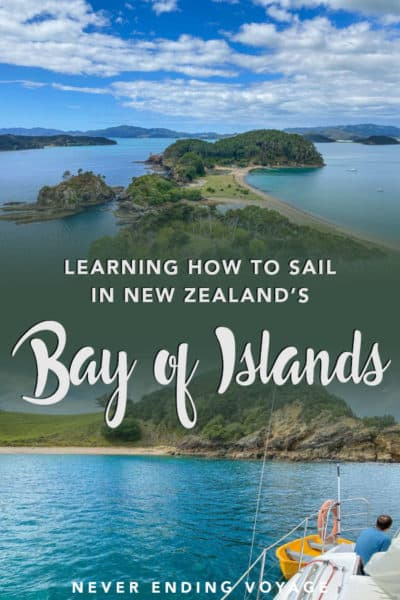 How to learn sailing in the Bay of Islands in New Zealand