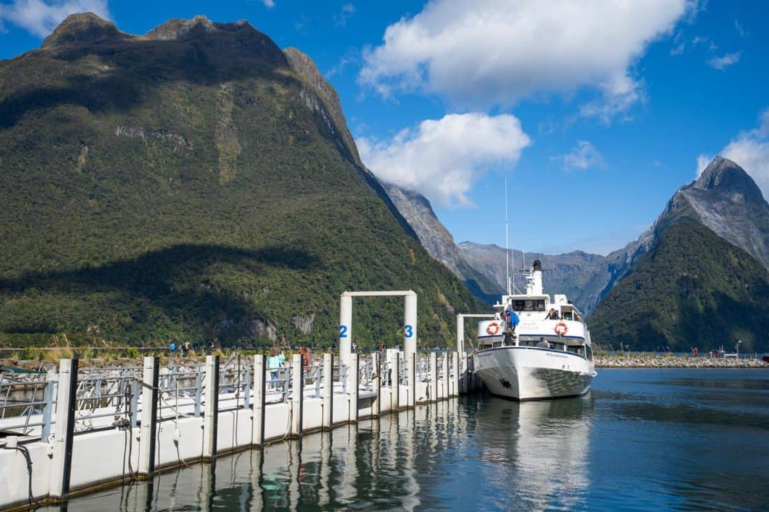 Cruise Milford boat for a nature cruise through Milford Sound