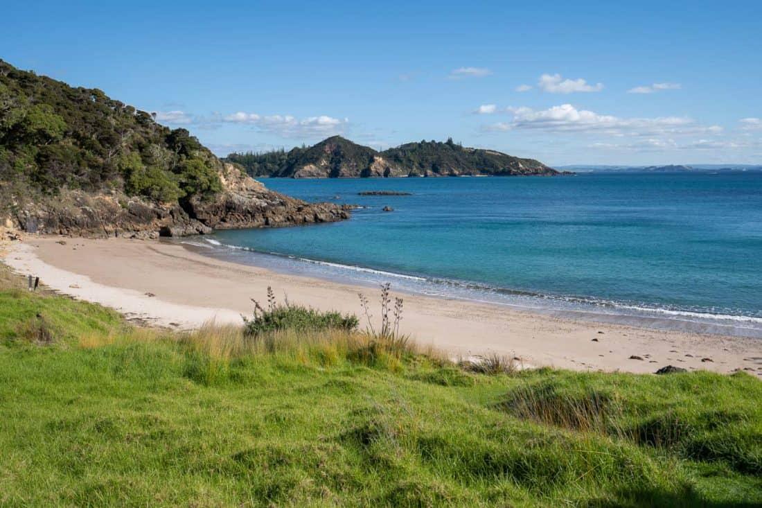 The beach at Akeake Bay on Urupukapuka Island, New Zealand