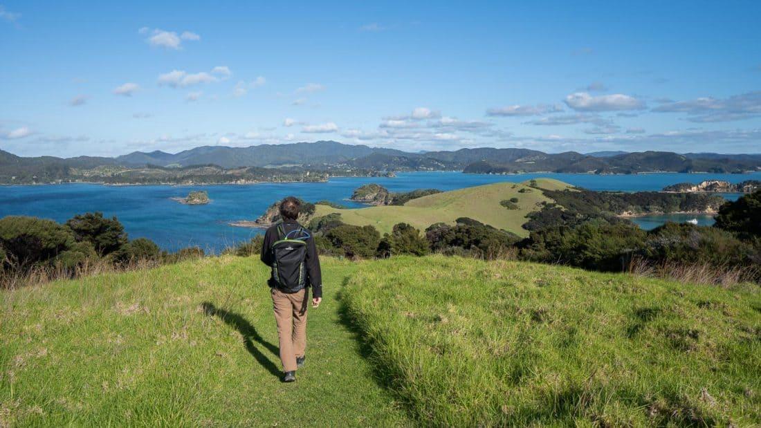 Walking on Urupukapuka Island