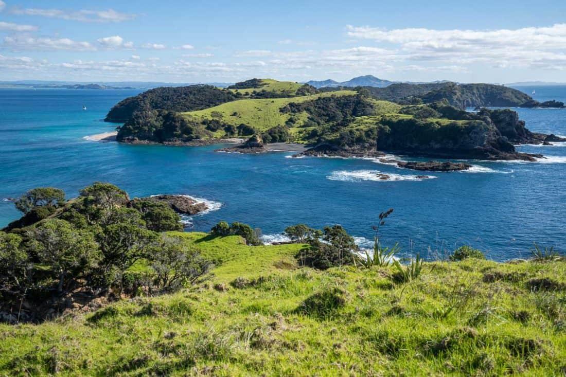 View of Waewaetorea Island from the Urupukapuka Island Cliff Pa Loop
