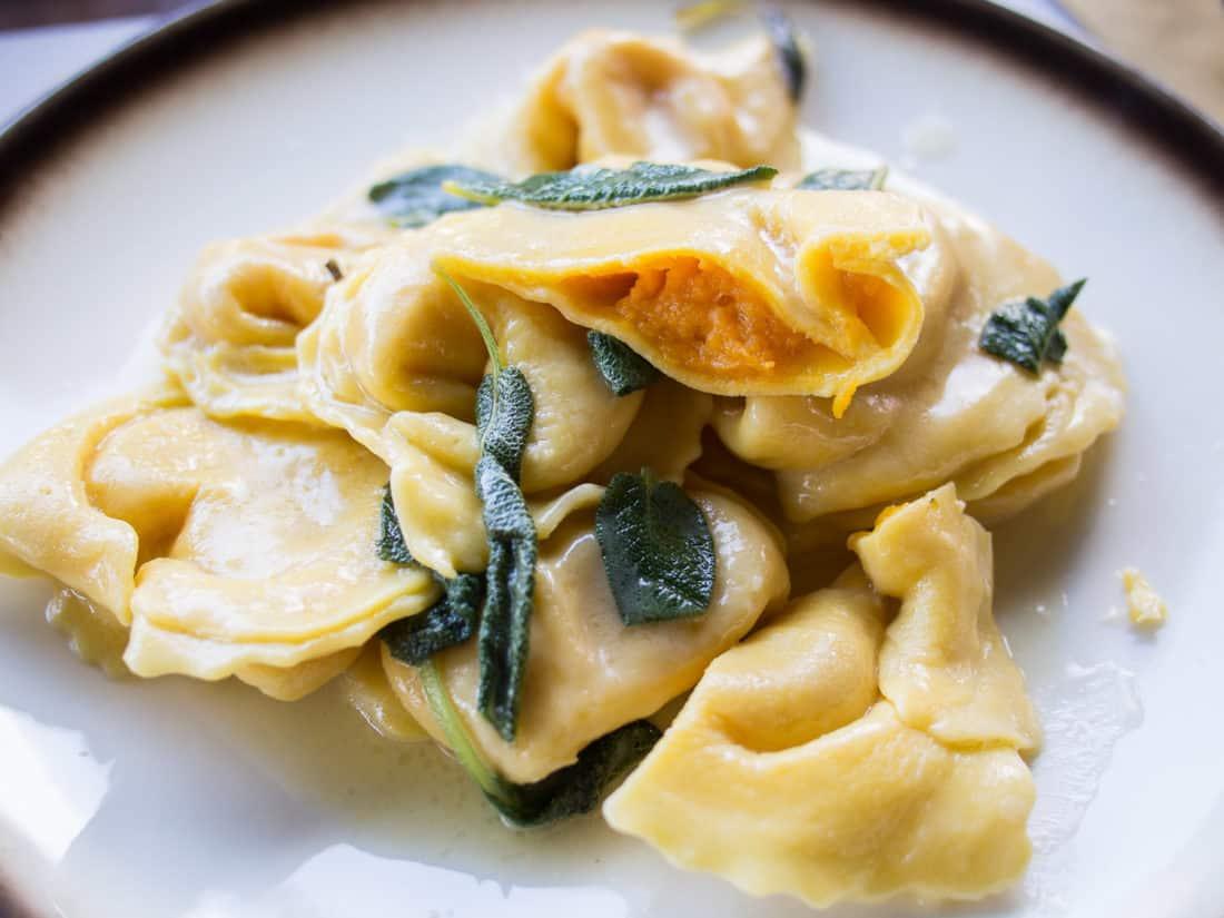 Cappellacci di Zucca, a type of pumpkin stuffed ravioli, is a local speciality of Ferrara.
