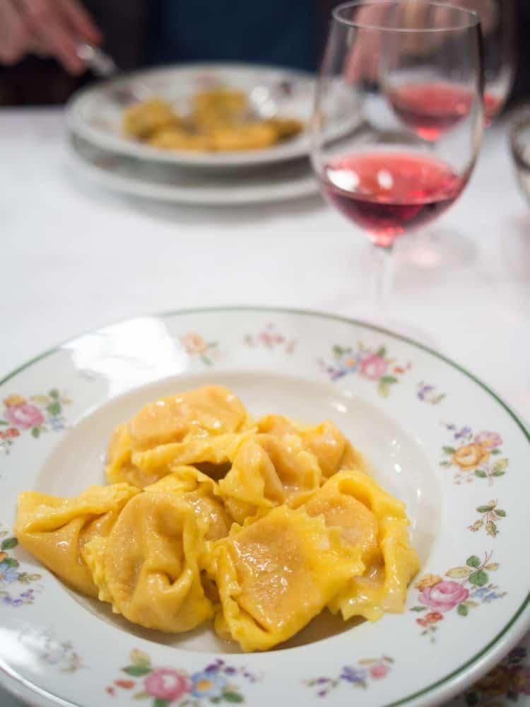 Tortelloni at Da Danilo in Modena