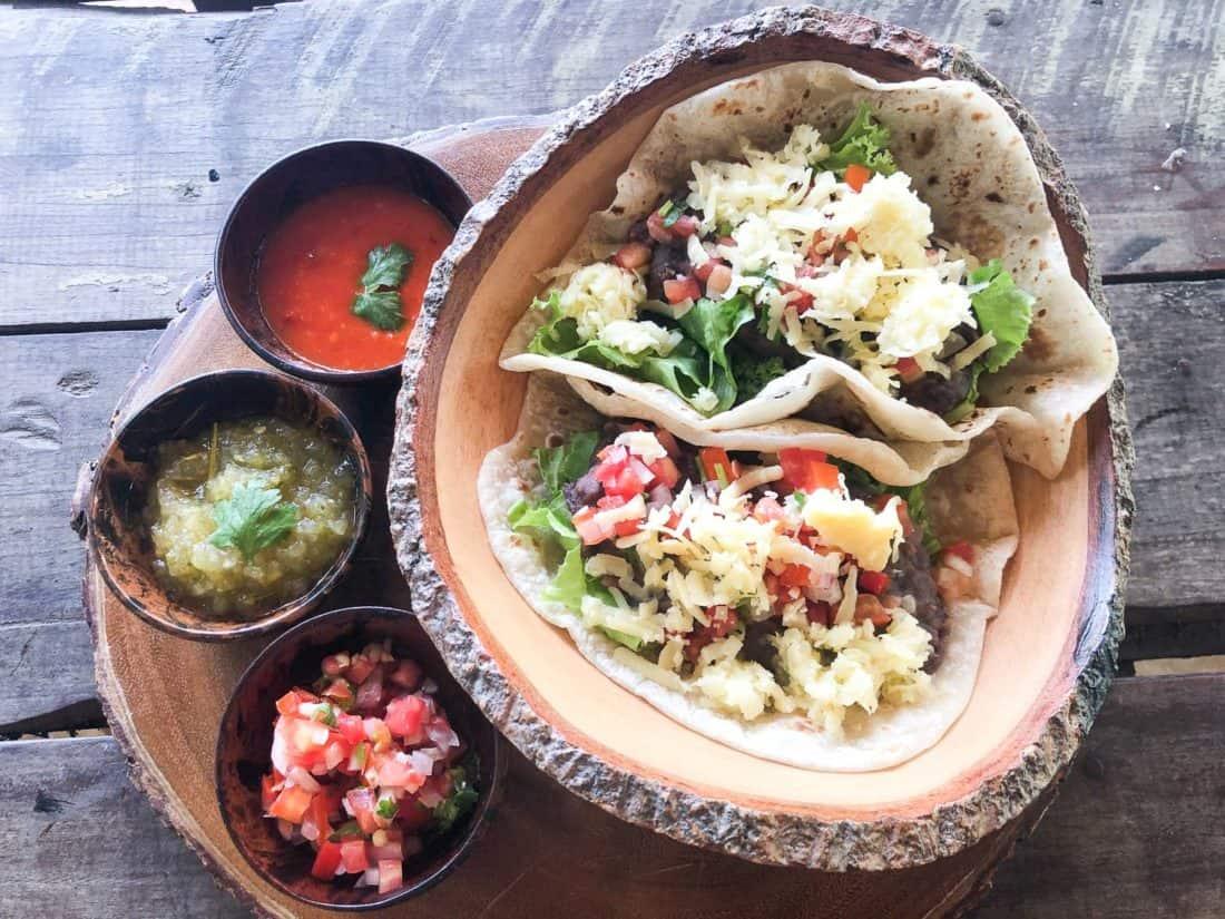 Refried bean tacos at Baja Taco on Koh Lanta