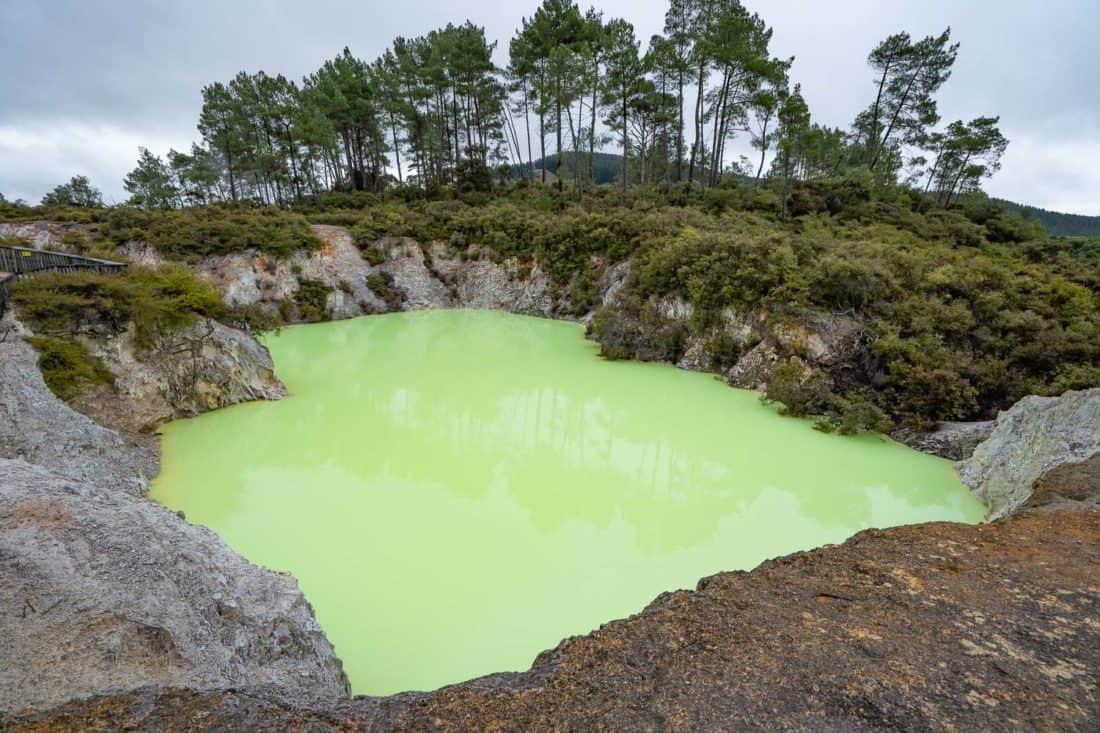 Devil's Bath at Wai o Tapu geothermal park, New Zealand