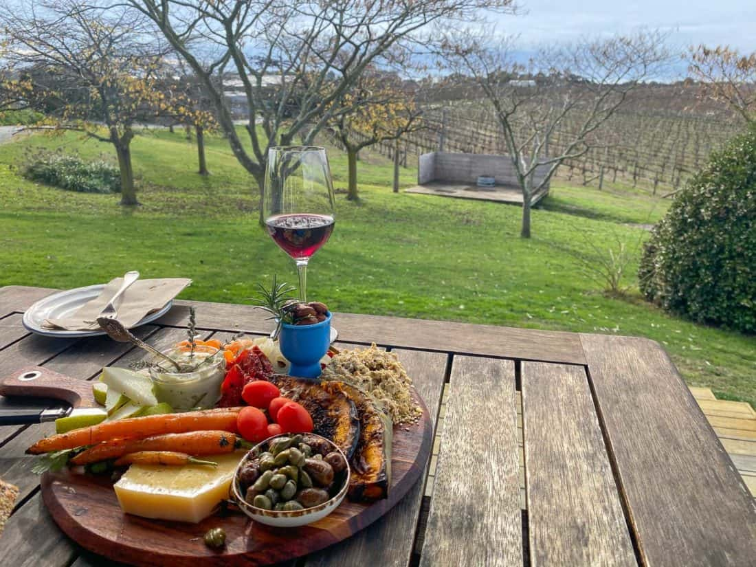 Platter lunch at Te Awanga Estate, Hawke's Bay