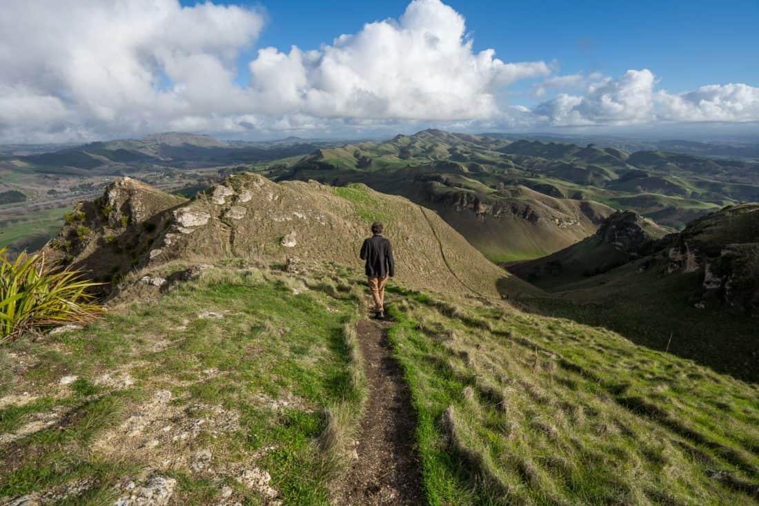 Hiking at Te Mata Peak