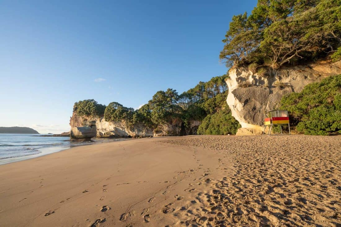 Mares Leg Cove Beach next to Cathedral Cove in New Zealand
