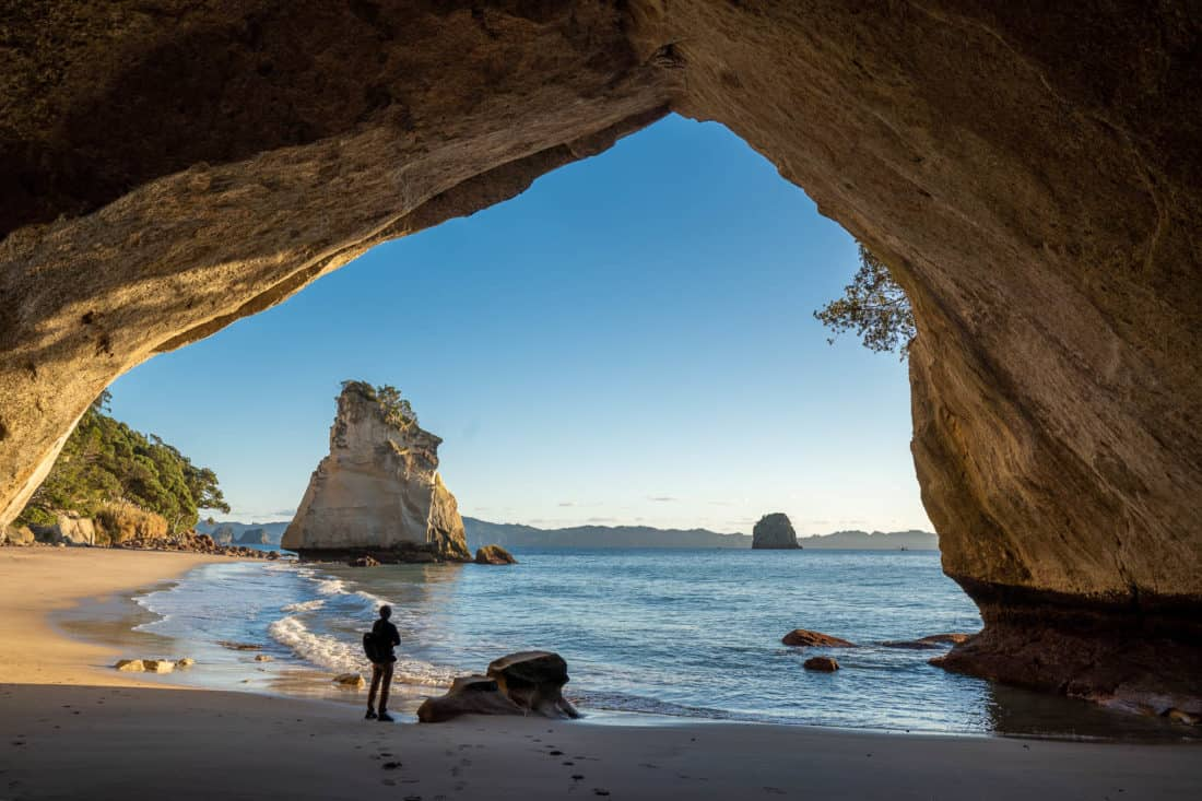Cathedral Cove is a must see on a North Island road trip in New Zealand