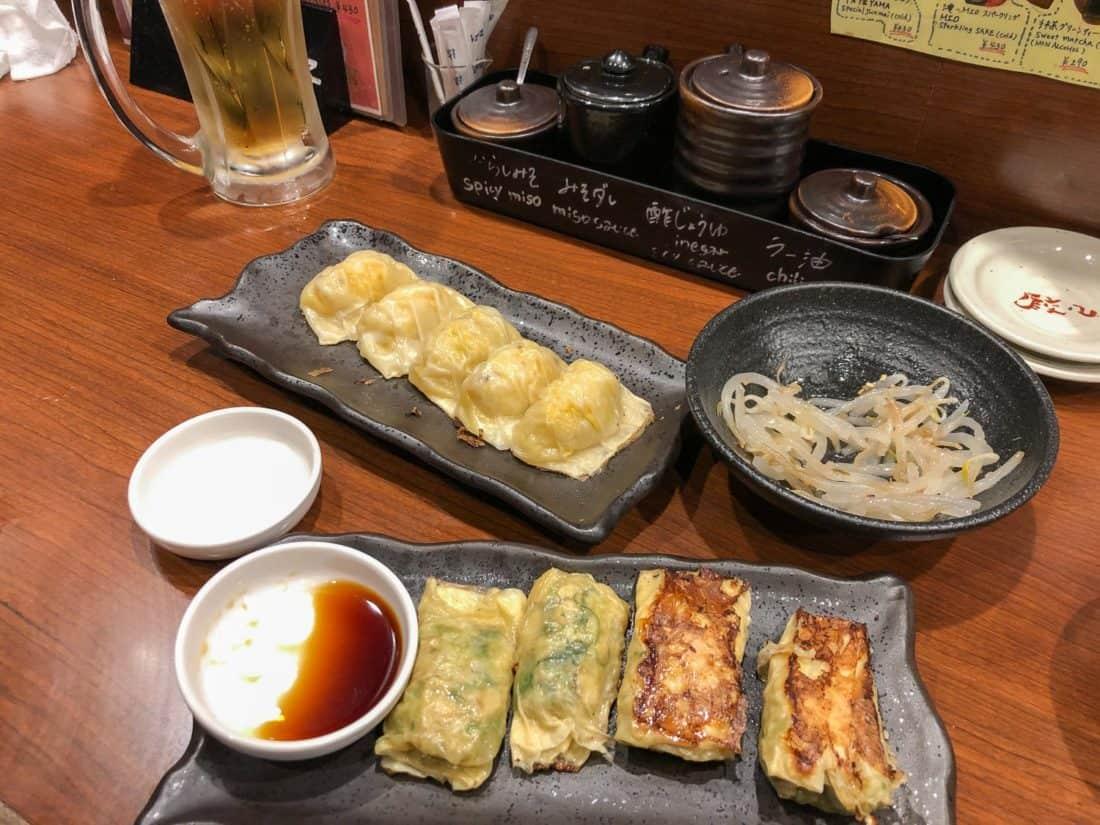 Vegetarian gyoza at Gyoza ChaoChao in Kyoto