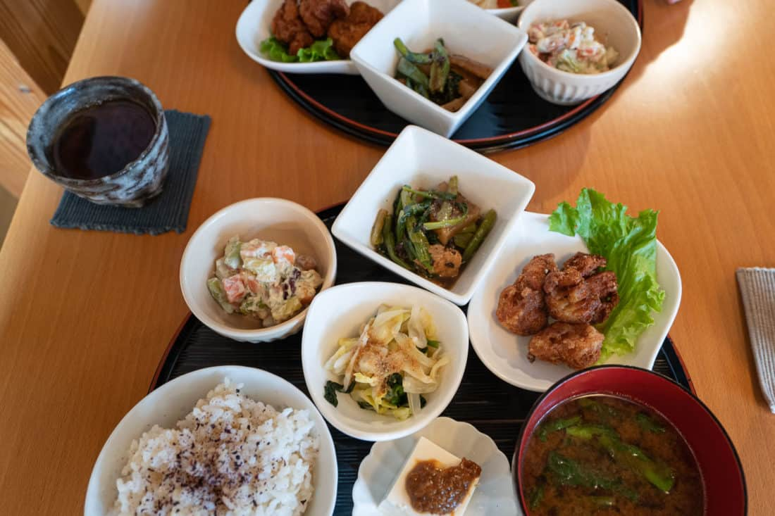 Cafe Waka at Otera House vegetarian set lunch in Kyoto