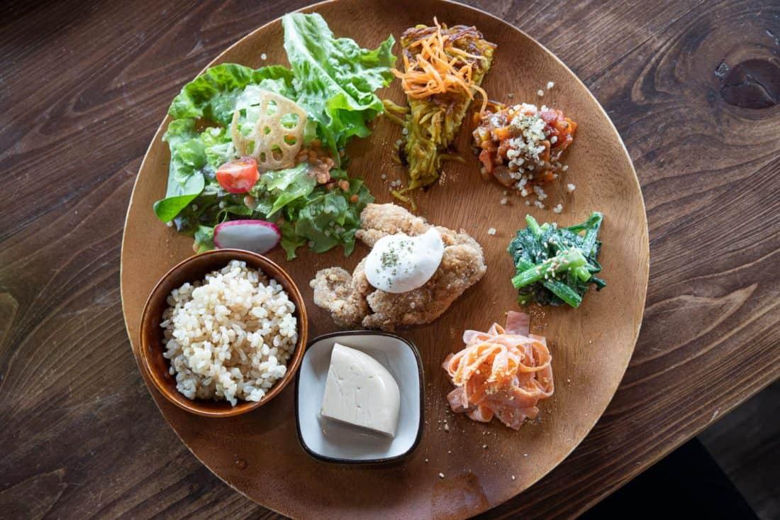 Obanzai set at Veg Out, a Kyoto vegan restaurant