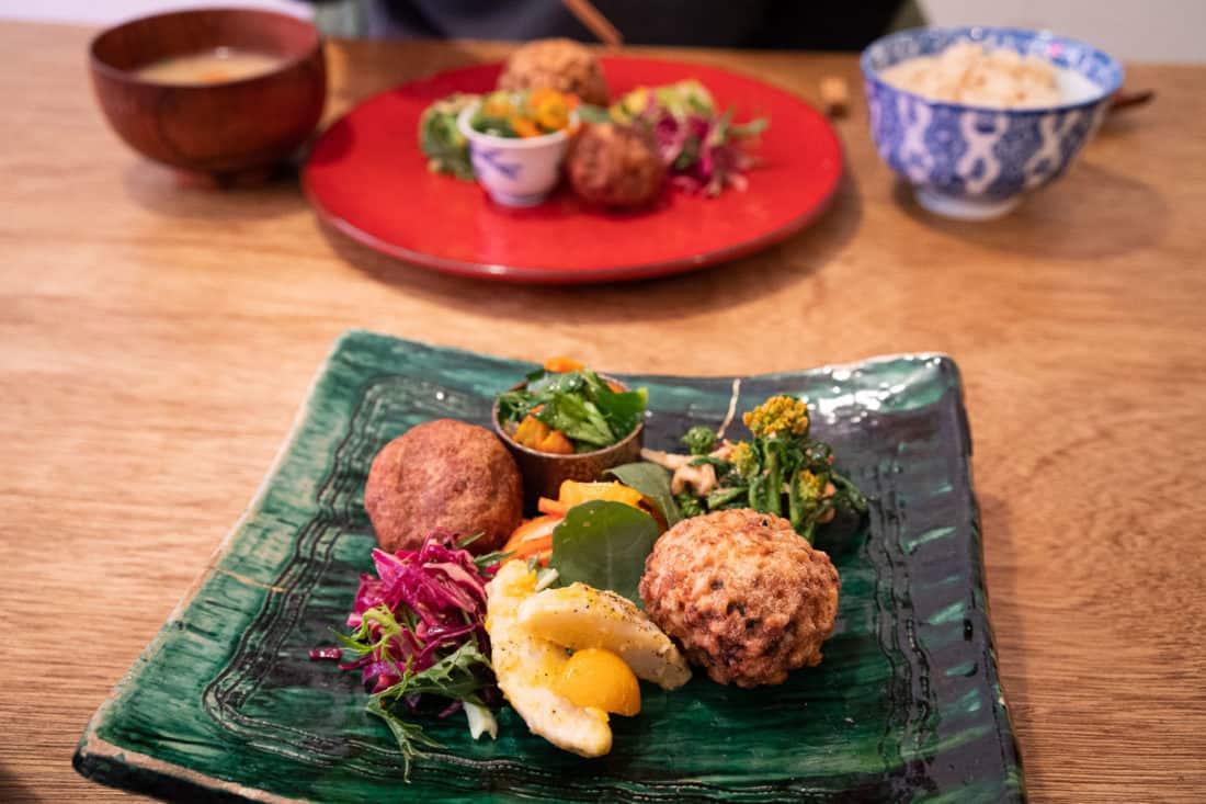 Hobodo Cafe vegan set lunch in Kyoto