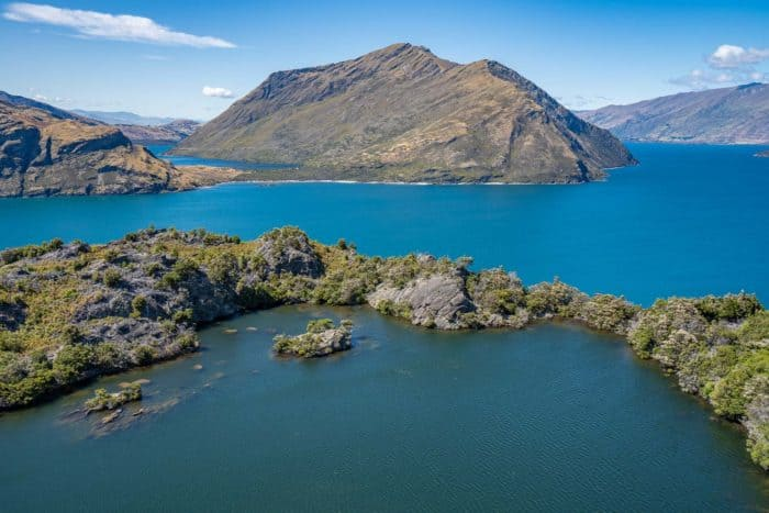 Mou Waho Island in Lake Wanaka - one of the best things to do in Wanaka New Zealand