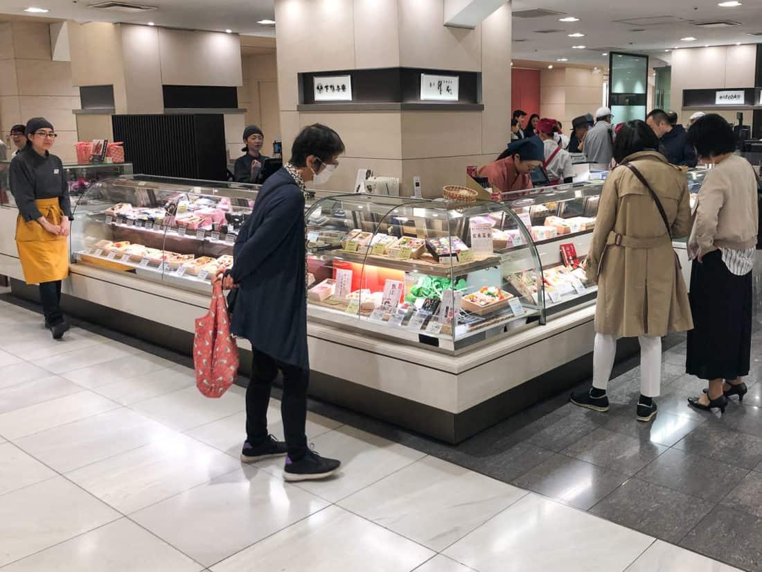 The Masumoto stall on the B1 floor of Isetan Shinjuku which sells vegan bento boxes