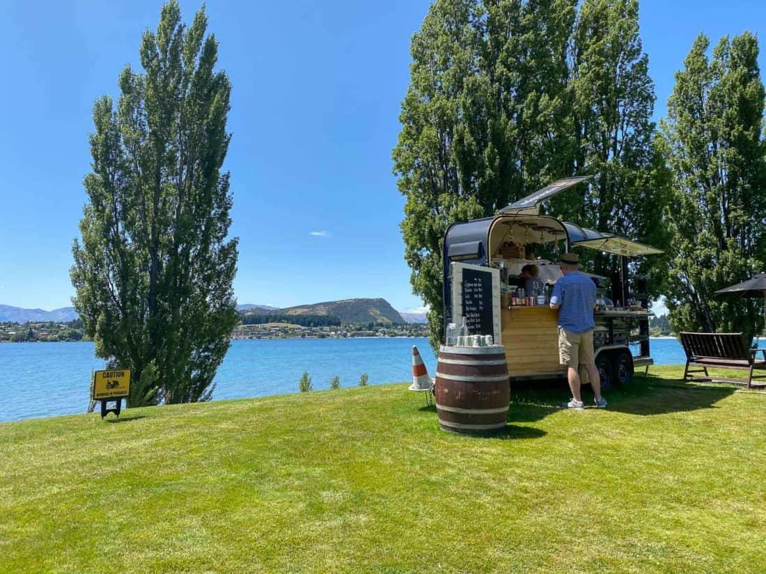 Coffee cart at Edgewater Hotel, Wanaka
