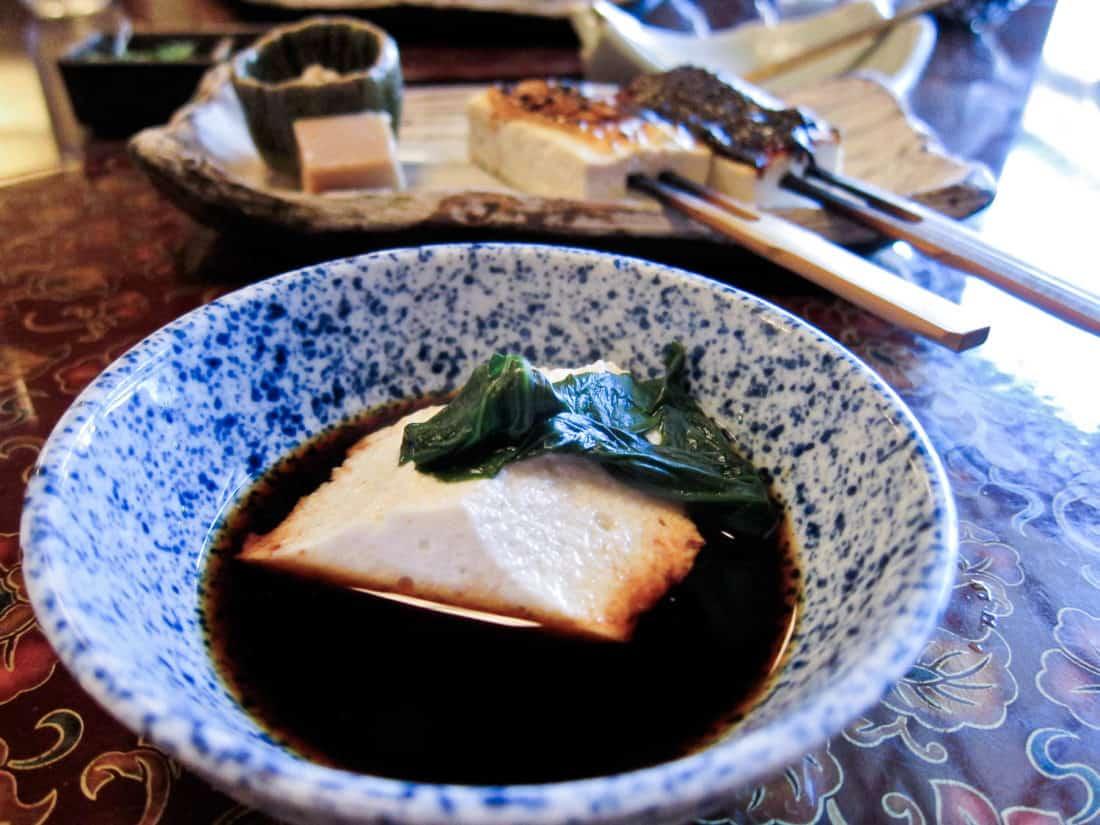Tosuiro vegan tofu set in Kyoto