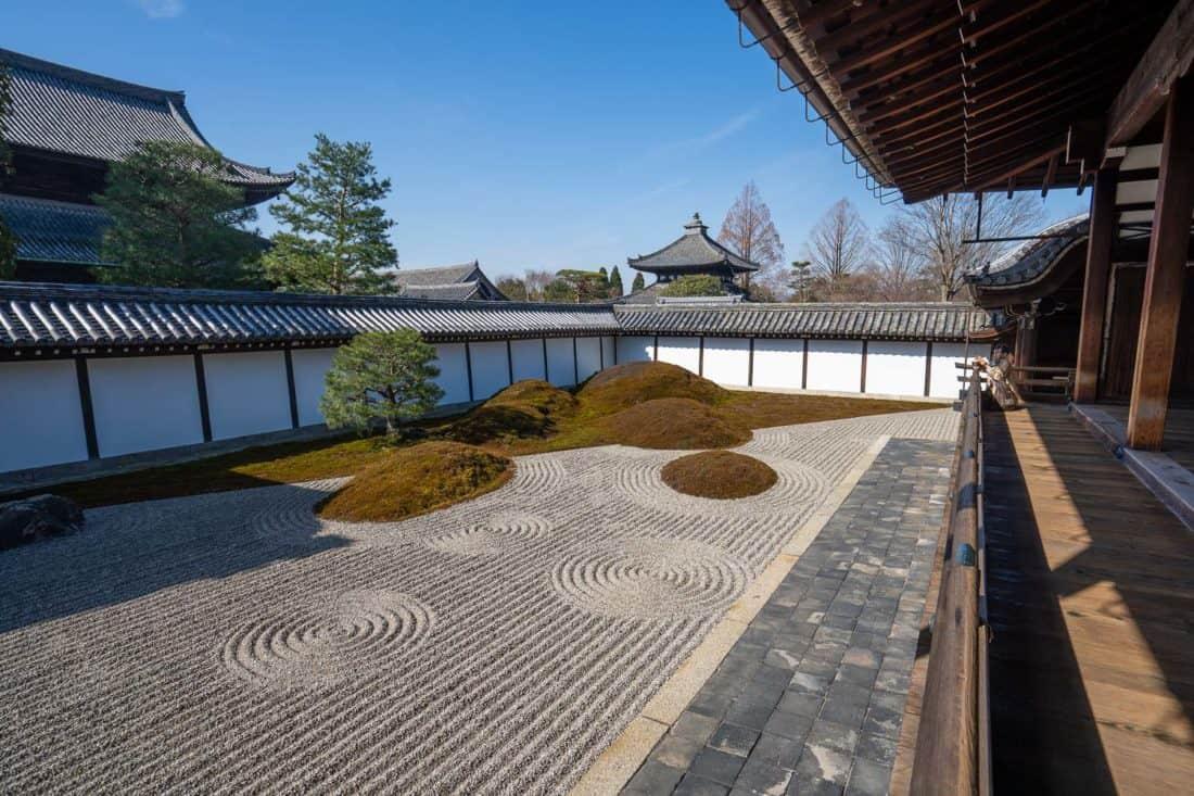 Hojo Garden at Tofukuji temple in Kyoto, Japan