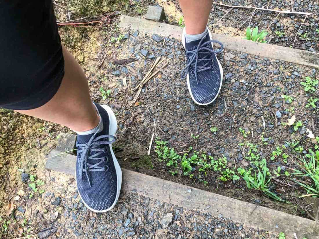 Wearing my Allbirds Dashers on the trail