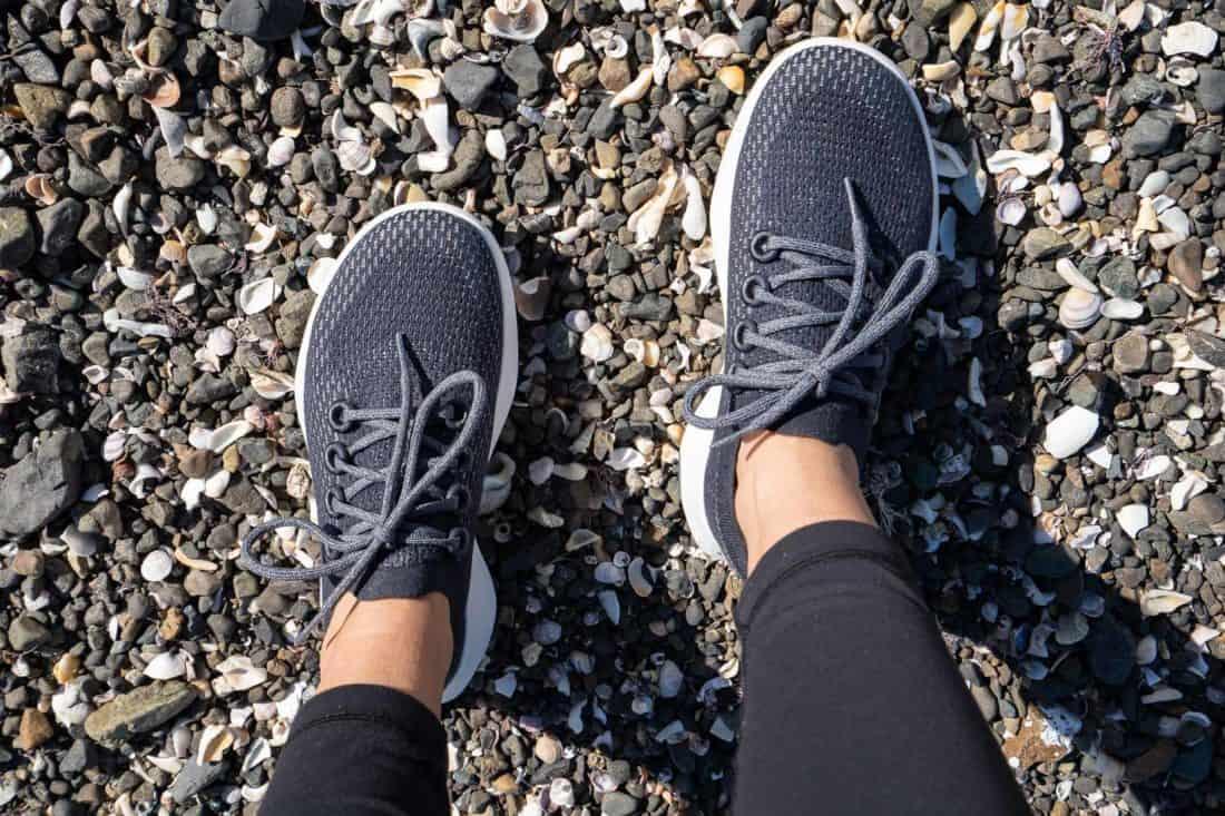 Allbirds Tree Dashers running shoes in Thunder