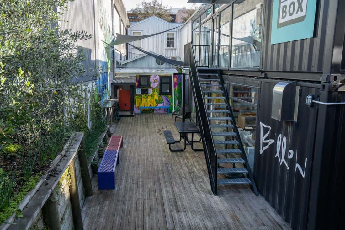 Billow bakery in a shipping container in New Plymouth, Taranaki