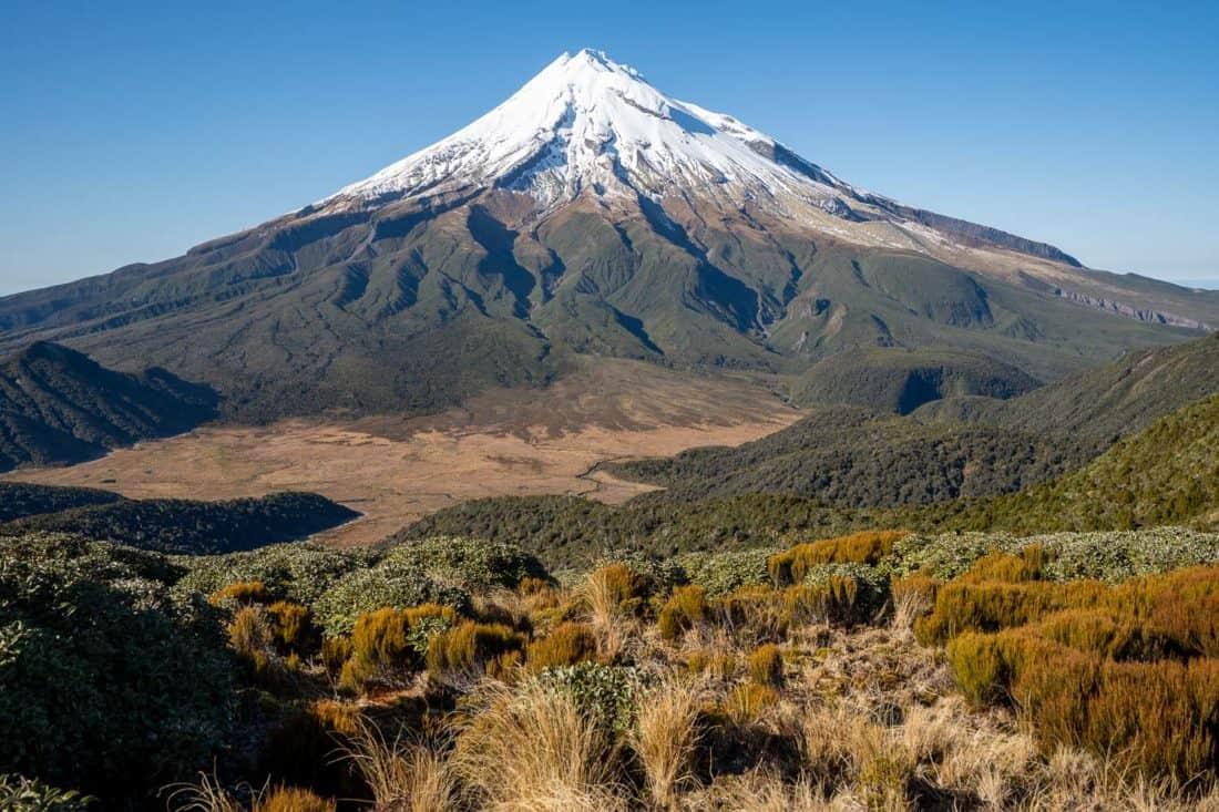 View of Mt Taranaki near Pouakai Hut, New Zealand