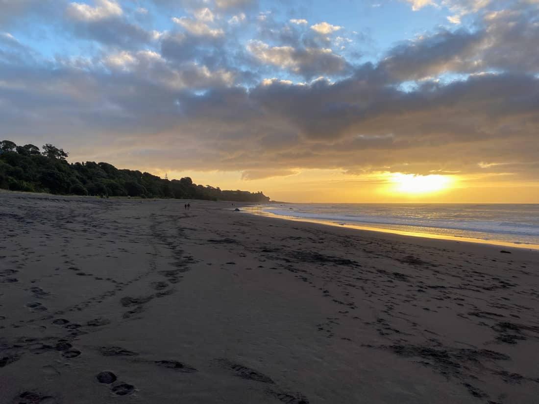 Sunset at Oakura Beach on Taranaki Surf Highway 45